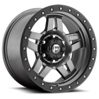 FUEL OFFROAD WHEELS  ANZA D558 MATTE ANTHRACITE RIM with BLACK RING