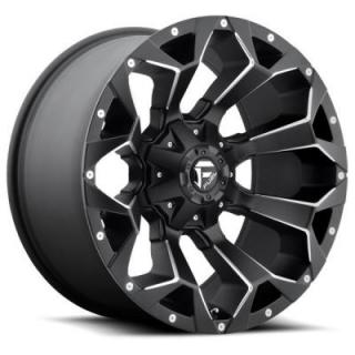 FUEL OFFROAD WHEELS  ASSAULT D546 MATTE BLACK RIM with MILLED ACCENTS