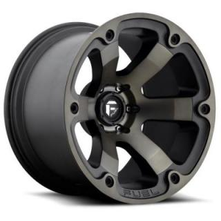 FUEL OFFROAD WHEELS  BEAST D564 MATTE BLACK MACHINED DDT RIM