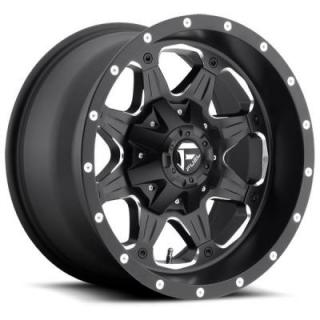 FUEL OFFROAD WHEELS  BOOST D534 BLACK RIM with MILLED ACCENTS