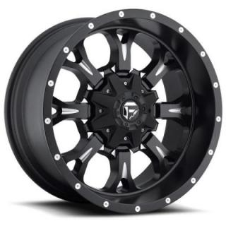 KRANK D517 BLACK RIM with MILLED ACCENTS by FUEL OFFROAD WHEELS