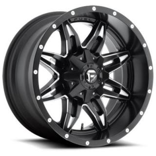 LETHAL D567 MATTE BLACK RIM with MILLED ACCENTS by FUEL OFFROAD WHEELS