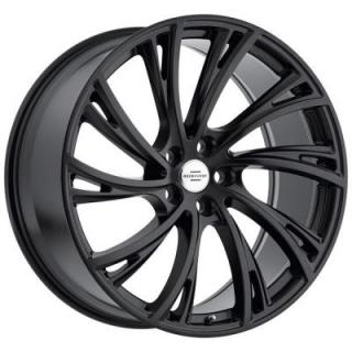 NOBLE MATTE BLACK RIM with GLOSS BLACK FACE  by REDBOURNE WHEELS