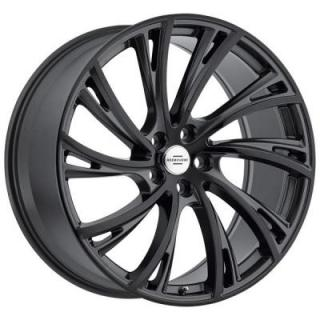 REDBOURNE WHEELS   NOBLE GLOSS GUNMETAL RIM with GLOSS BLACK FACE