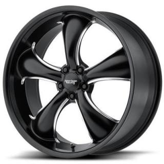 AMERICAN RACING WHEELS  AR912 TT60 SATIN BLACK MILLED RIM