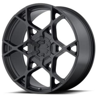 KM695 CROSSHAIR SATIN BLACK RIM from KMC WHEELS