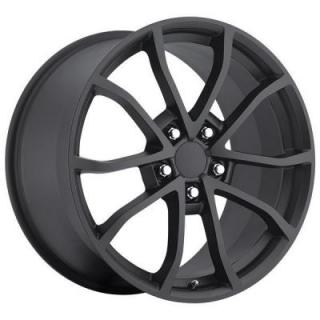 SPECIAL BUY WHEELS  FACTORY REPRODUCTION CORVETTE CUP C6 2012 STYLE 25 SATIN BLACK RIM DISPLAY SET 1 SET ONLY - SOLD AS IS
