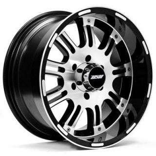 SPECIAL BUY WHEELS  T89 BLACK RIM with MACHINED FACE