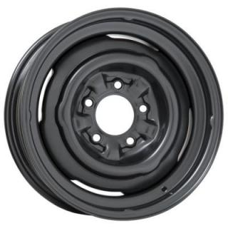 WHEEL VINTIQUES  65 SERIES O.E. CORVETTE STYLE SATIN BLACK - Cap Not Included