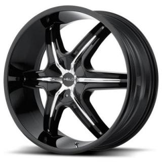 HE891 GLOSS BLACK RIM with ACCENTS from HELO WHEELS