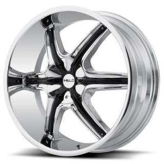 HE891 CHROME RIM with ACCENTS from HELO WHEELS