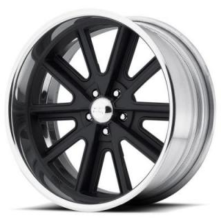 AMERICAN RACING WHEELS  VN407 SHELBY COBRA SL BLACK CENTER RIM with POLISHED BARREL
