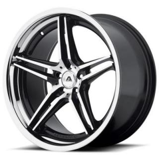 ADVENTUS WHEELS  AVS-1 GLOSS BLACK RIM with MACHINED FACE and SS LIP