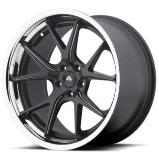 ADVENTUS WHEELS  AVS-3 MATTE BLACK MILLED RIM with SS LIP