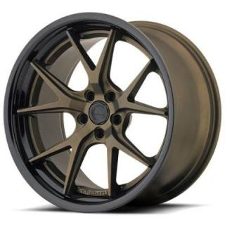 AVS-3 BLACK RIM with TITANIUM FACE and BLACK LIP by ADVENTUS WHEELS