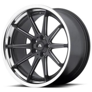 ADVENTUS WHEELS  AVS-4 MATTE BLACK MILLED RIM with SS LIP