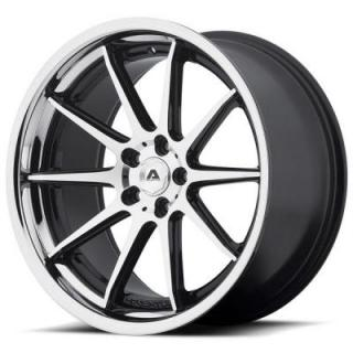 ADVENTUS WHEELS  AVS-4 GLOSS BLACK RIM with MACHINED FACE and SS LIP