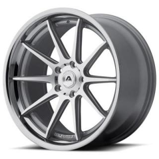 ADVENTUS WHEELS  AVS-4 SILVER RIM with MACHINED FACE and SS LIP