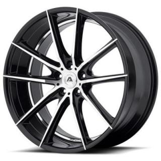 ADVENTUS WHEELS  AVX-10 GLOSS BLACK RIM with MACHINED FACE