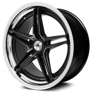 ADVENTUS WHEELS  AVS-1 MATTE BLACK MILLED RIM with SS LIP