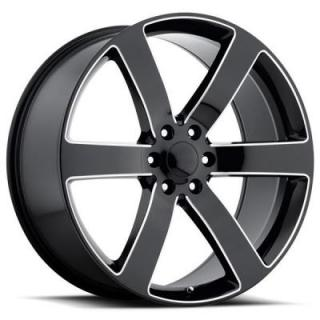 FACTORY REPRODUCTIONS WHEELS  CHEVY TRAILBLAZER SS STYLE 32 BLACK MILLED RIM