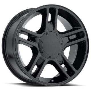 FACTORY REPRODUCTIONS WHEELS  FORD 2000 F-150 HARLEY STYLE 51 GLOSS BLACK RIM