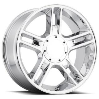 FACTORY REPRODUCTIONS WHEELS  FORD 2000 F-150 HARLEY STYLE 51 CHROME RIM
