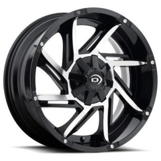 PROWLER 422 GLOSS BLACK RIM with MACHINED FACE from VISION WHEELS