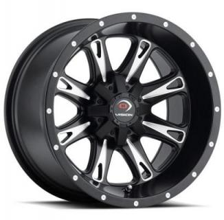 VISION WHEELS   SNIPER 549 ATV MATTE BLACK RIM with MILLED SPOKES
