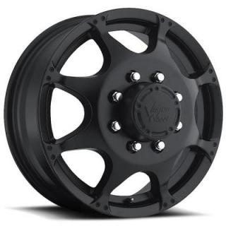VISION WHEELS   CRAZY EIGHTZ 715 DUALLY MATTE BLACK FRONT RIM