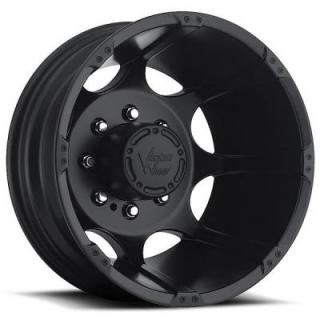 VISION WHEELS   CRAZY EIGHTZ 715 DUALLY MATTE BLACK REAR RIM