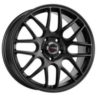 SPECIAL BUY WHEELS  DRAG DR37 FLAT BLACK FULL PAINTED RIM PPT DISPLAY SET 1 SET ONLY