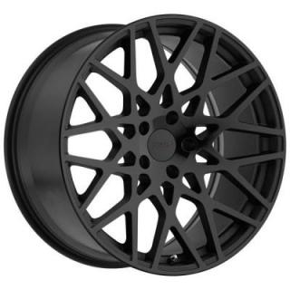 VALE DOUBLE MATTE BLACK RIM with GLOSS BLACK FACE by TSW WHEELS