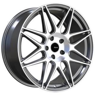 CL CLASSE MATTE GUNMETAL RIM with MACHINED FACE from ADVANTI WHEELS