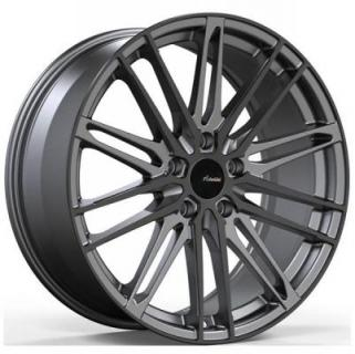 DS DIVISO MATTE GUNMETAL RIM with GLOSS BLACK FACE from ADVANTI WHEELS