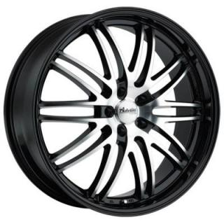 PRODIGO GLOSS BLACK RIM with MACHINED FACE from ADVANTI WHEELS