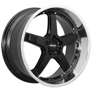 A2 TRAKTION GLOSS BLACK RIM with MACHINED LIP from ADVANTI WHEELS