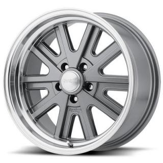 VN527 MAG GRAY RIM with MACHINED LIP from AMERICAN RACING WHEELS