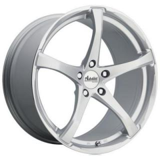 SPECIAL BUY WHEELS  ADVANTI B2 DENARO SILVER/MACHINED RIM DISPLAY SET 1 SET ONLY - SOLD AS IS