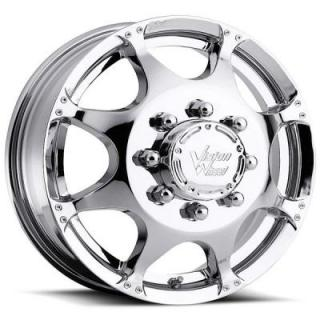 VISION WHEELS   CRAZY EIGHTZ 715 DUALLY CHROME FRONT RIM
