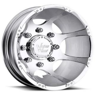 VISION WHEELS   CRAZY EIGHTZ 715 DUALLY CHROME REAR RIM