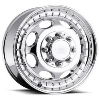 VISION WHEELS   HAULER 181 DUALLY CHROME FRONT RIM