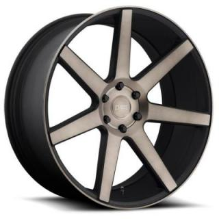 DUB WHEELS  FUTURE S127 BLACK RIM with MACHINED FACE DDT