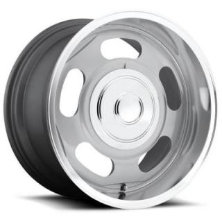 BIG SLOT U113 SILVER RIM with DIAMOND CUT LIP by U.S. MAG WHEELS