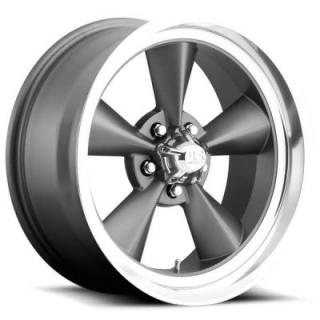 STANDARD U102 GUNMETAL RIM with DIAMOND CUT LIP by U.S. MAG WHEELS