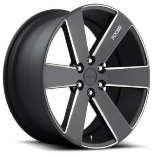 FOOSE WHEELS  SWITCH F158 MATTE BLACK RIM with MILLED ACCENTS