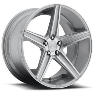 NICHE WHEELS  APEX M125 SILVER MACHINED RIM