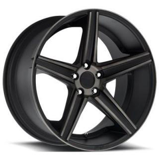 NICHE WHEELS  APEX M126 BLACK RIM with MACHINED FACE DDT