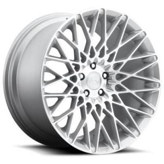 NICHE WHEELS  CITRINE M161 SILVER MACHINED RIM