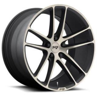NICHE WHEELS  ENYO M115 BLACK RIM with MACHINED FACE DDT